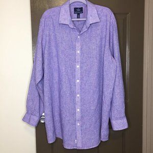 BUTTONED DOWN Tailored Men's Long Sleeves Blue Lin